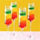 Tropical Rainbow Jello Dessert