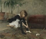 Helene Schjerfbeck, Dancing shoes, 1882