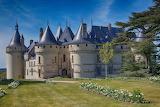 Castle, trees, flowers, park, France, architecture, Castle of Ch