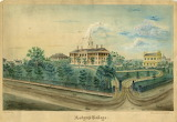 Old Queens College Watercolor, 1859
