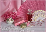 Still life, flower, flower bouquet, vase, perfume, gift, necklac