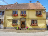 House, facade, old architecture, flowers, France