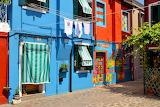 Burano, colored houses, facades, doors, windows, alley