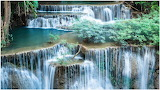 Beautiful sceneries of waterfalls