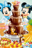 Mickey and Minnie's Chocolate Fountain