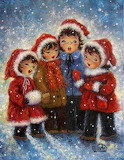 Children carolers
