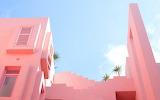 Pastel pink summer house