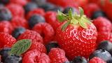 Strawberries, raspberries, blueberries