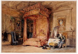 Queen Mary's Bedchamber, Hoyrood Palace by George Cattermole