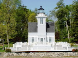 Round Island Lighthouse. St Mary's River, great Lakes