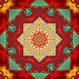Colorful kaleidoscope abstract