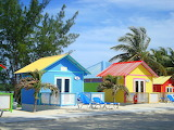 Various small 187 colourful huts