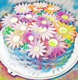Flowery cake art @ Titataartjes