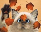 Cat-and-Leaves-Lowell-Herrero