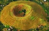 A terrace-farmed volcano near Kisoro. Uganda
