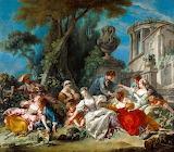 "Francois Boucher : ""The Bird Catchers"""