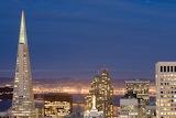 Cityscape San Francisco night