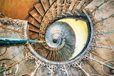 Beautiful staircase in Polish abandoned palace