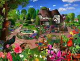 Cats in a Cottage Garden - Gerald Newton