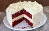 ^ Red Velvet Chessecake Cake
