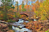 Amity Creek and Bridge Duluth Minnesota USA