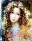 Portrait de femme -peinture