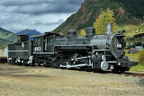 Denver & Rio Grande Western Railroad Locomotive 493 at Silverton