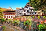 France Strasbourg Houses Rivers Fence Shrubs 529565 1280x852