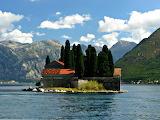 Mountains and Island in Lake Sveti Djordje Montenegro