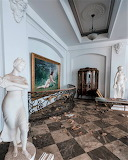 Statues and paintings empty mansion