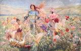 Georges-Antoine Rochegrosse , Le Chevalier aux Fleurs, 1894
