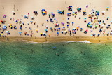 Umbrellas on beach Sardinia