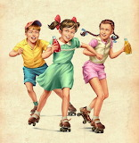 Children Roller Skating