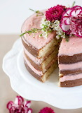 Vanilla cake with strawberry frosting