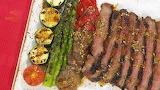 Carne asada con vegetales