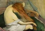 Władysław Ślewiński, Femme peignants ses cheveux, 1897