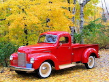 Classic pick up trucks-Old Red Truck Wallpaper