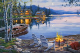 Evening at the Lake By Darrell Bush