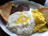 ^ Sausage, eggs, grits and toast