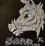 Wild Boar (Black and White)