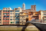 Girona , colored houses