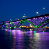 Peace Bridge at Night...