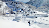 Bosco gurin, village, winter, snow, alps, Switzerland