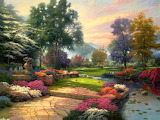 Garden Landscape~ Thomas Kinkade
