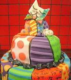 Britto cat cake