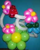 Balloon Butterfly with flowers