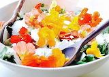 Rotate the flowery salad @ Food to Glow
