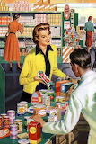 1950's  Grocery Shopping