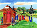 ^ Outhouse Laundry watercolor