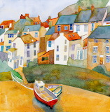 Staithes-Emma Ball Watercolor Landscape